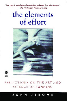 The Elements of Effort