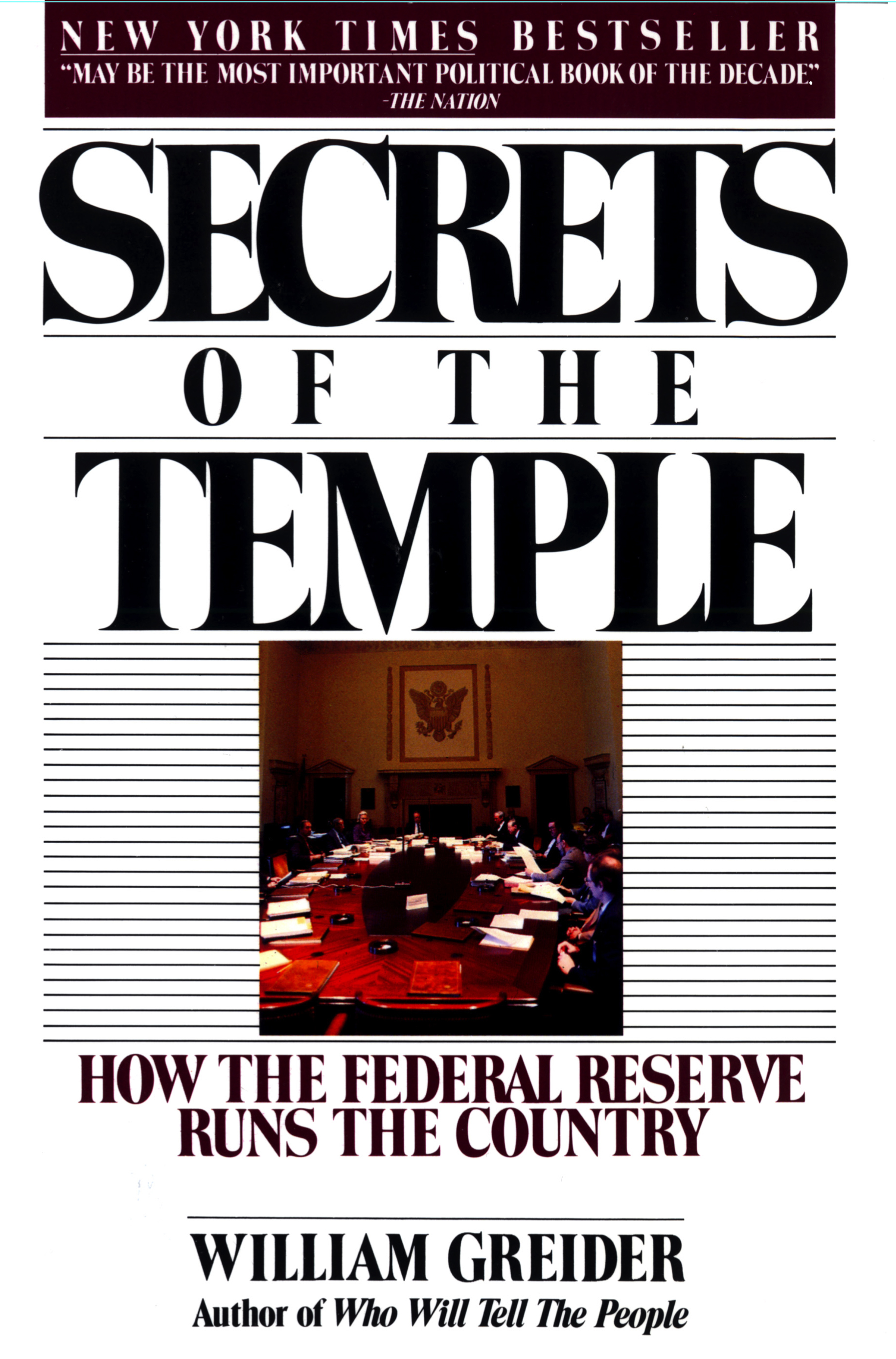a literary analysis of from secrets of the temple by william greider