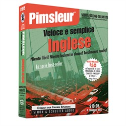 Pimsleur English for Italian Quick & Simple Course - Level 1 Lessons 1-8 CD