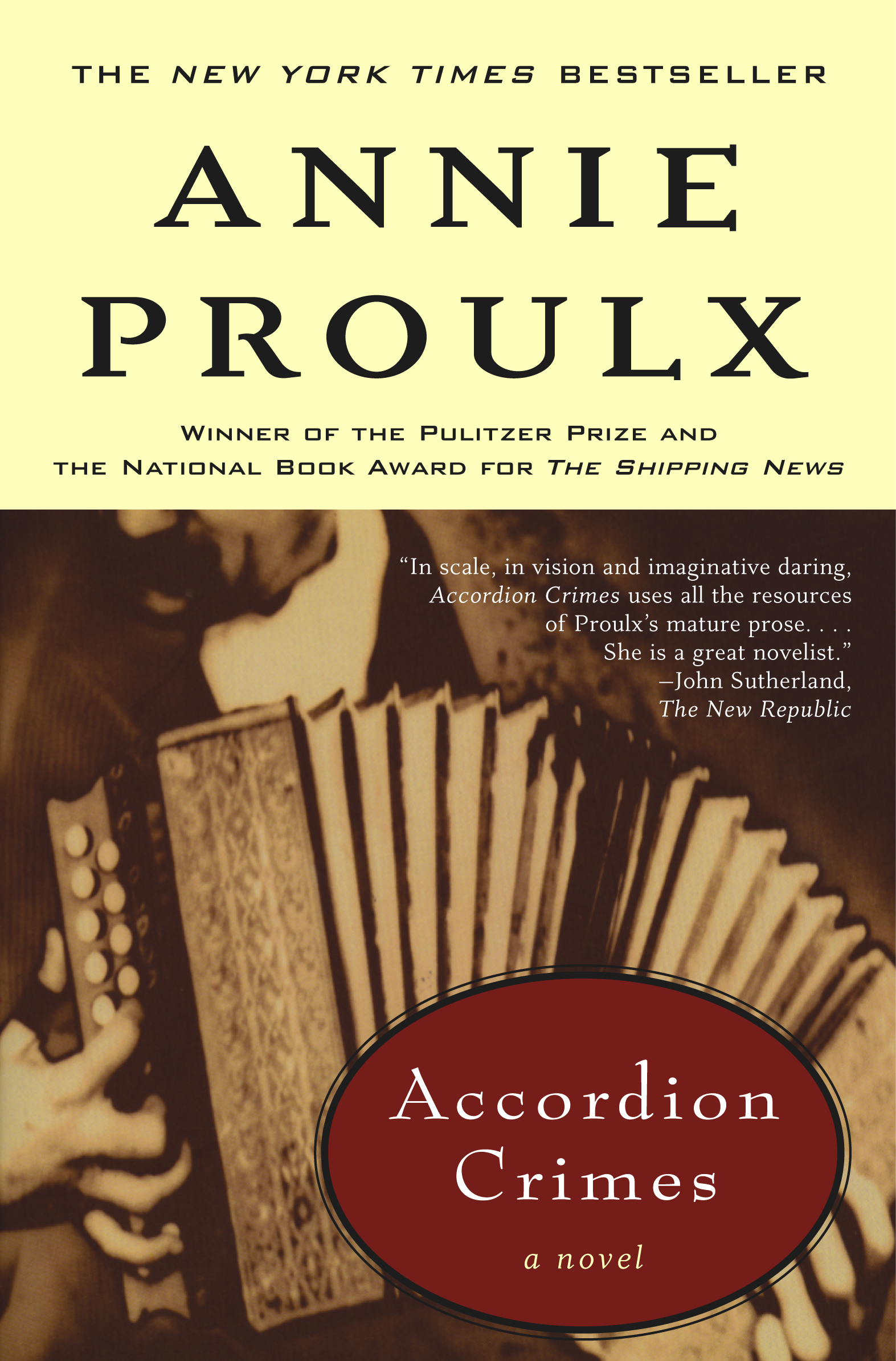 an overview of the novel accordion crimes by e annie proulx Focus on franco-american women and their  accordion crimes  annie proulx, e annie proulx  faucher's novel explores the trials and tribulations of.