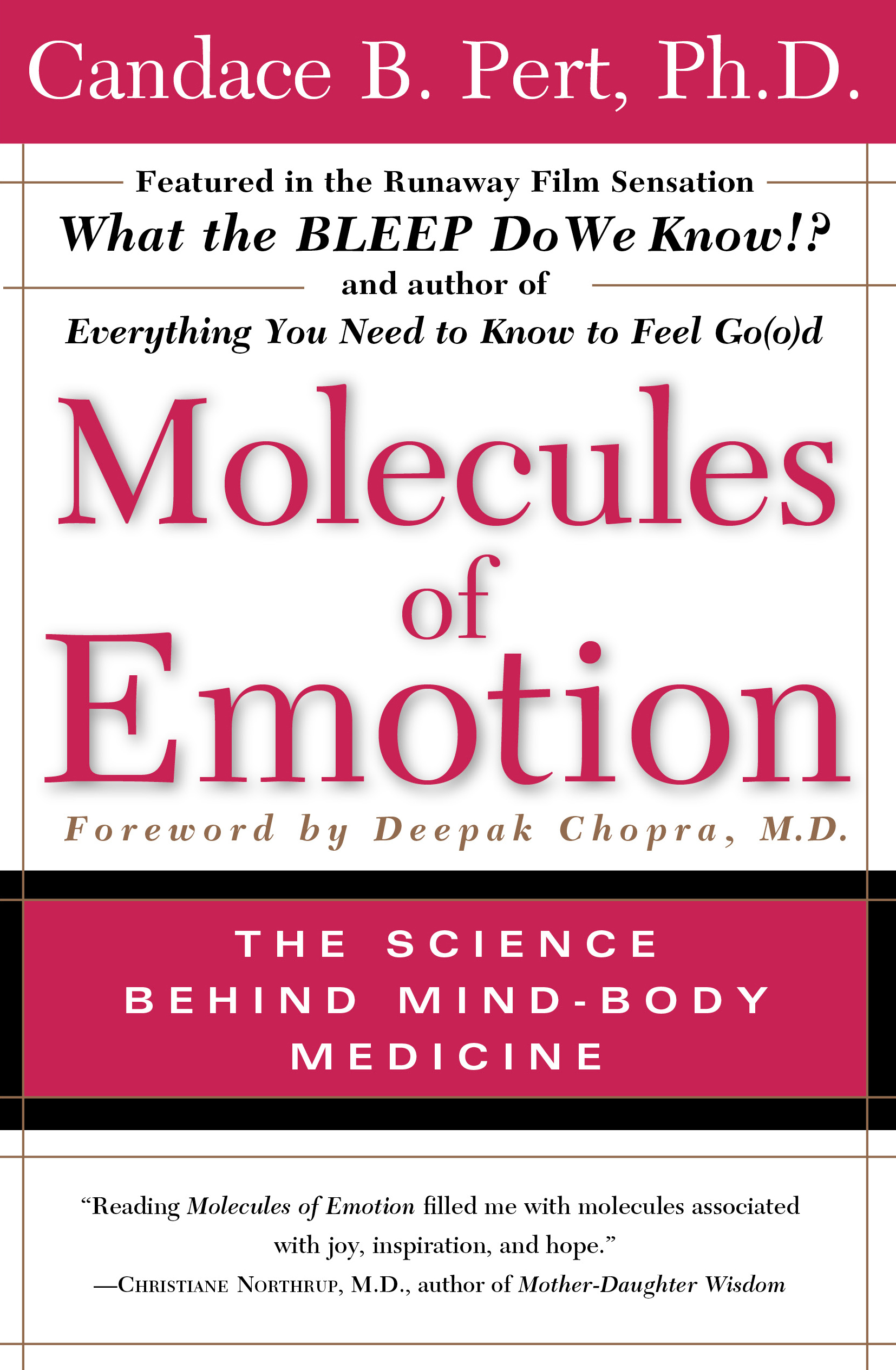 Molecules Of Emotion  Book By Candace B Pert  Official Publisher Page   Simon & Schuster