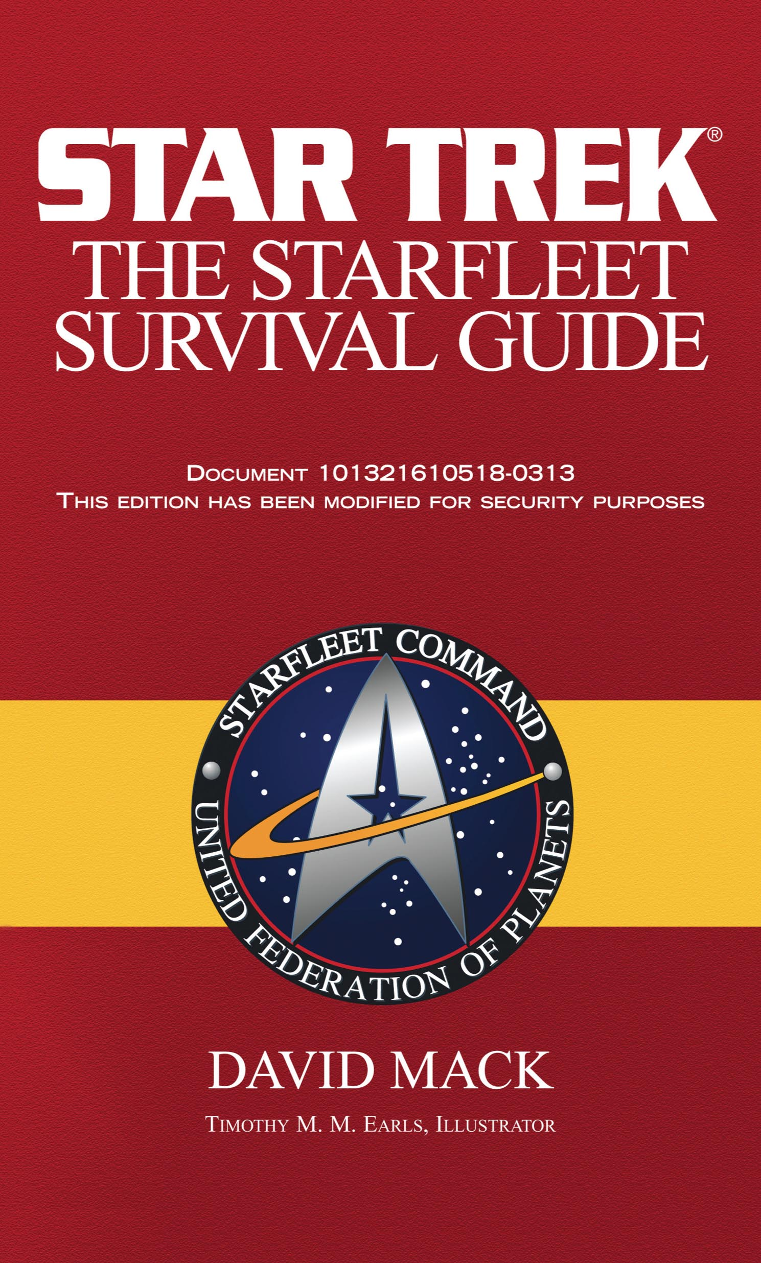 Book Cover Pattern Guide : The starfleet survival guide book by david mack