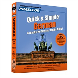 Pimsleur German Quick & Simple Course - Level 1 Lessons 1-8 CD