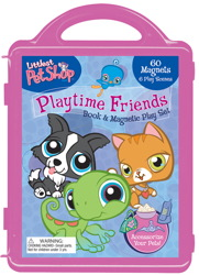 Littlest Pet Shop Book and Magnetic Playset
