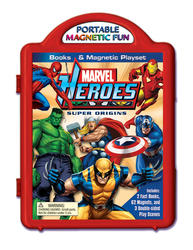 Marvel Heroes Super Origins Books & Magnetic Playset