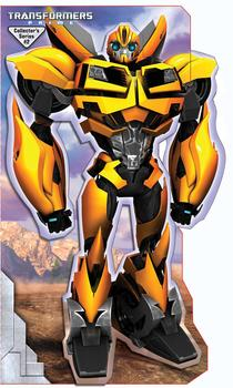 Transformers Prime Bumblebee Stand Up Mover