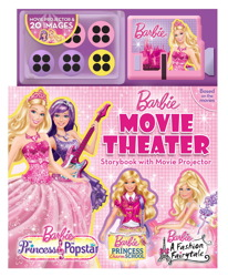 Barbie Movie Theater Storybook with Movie Projector