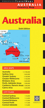 Australia Travel Map Sixth Edition