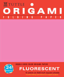 "Origami Hanging Paper - Fluorescent 6"" - 24 Sheets"