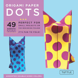 "Origami Paper - Dots - 6 3/4"" - 49 Sheets"