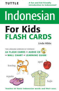 Tuttle Indonesian for Kids Flash Cards Kit