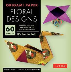 "Origami Paper - Floral Designs - 6"" - 60 Sheets"