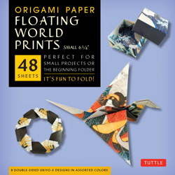 "Origami Paper - Floating World Prints - Small 6 3/4"" - 48 Sheets"