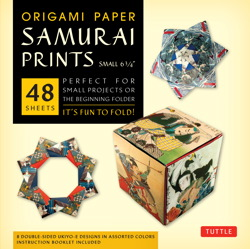 "Origami Paper - Samurai Prints - Small 6 3/4"" - 48 Sheets"