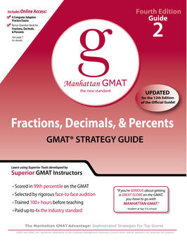 Fractions, Decimals, & Percents GMAT Preparation Guide, 4th Edition