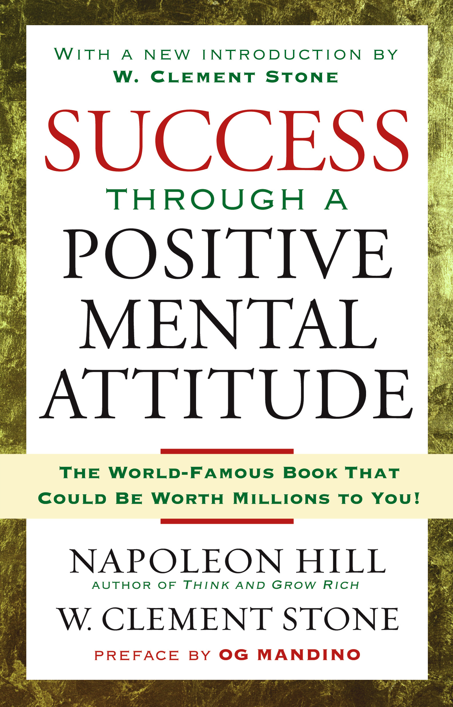 success through a positive mental attitude book by napoleon hill book cover image jpg success through a positive mental attitude