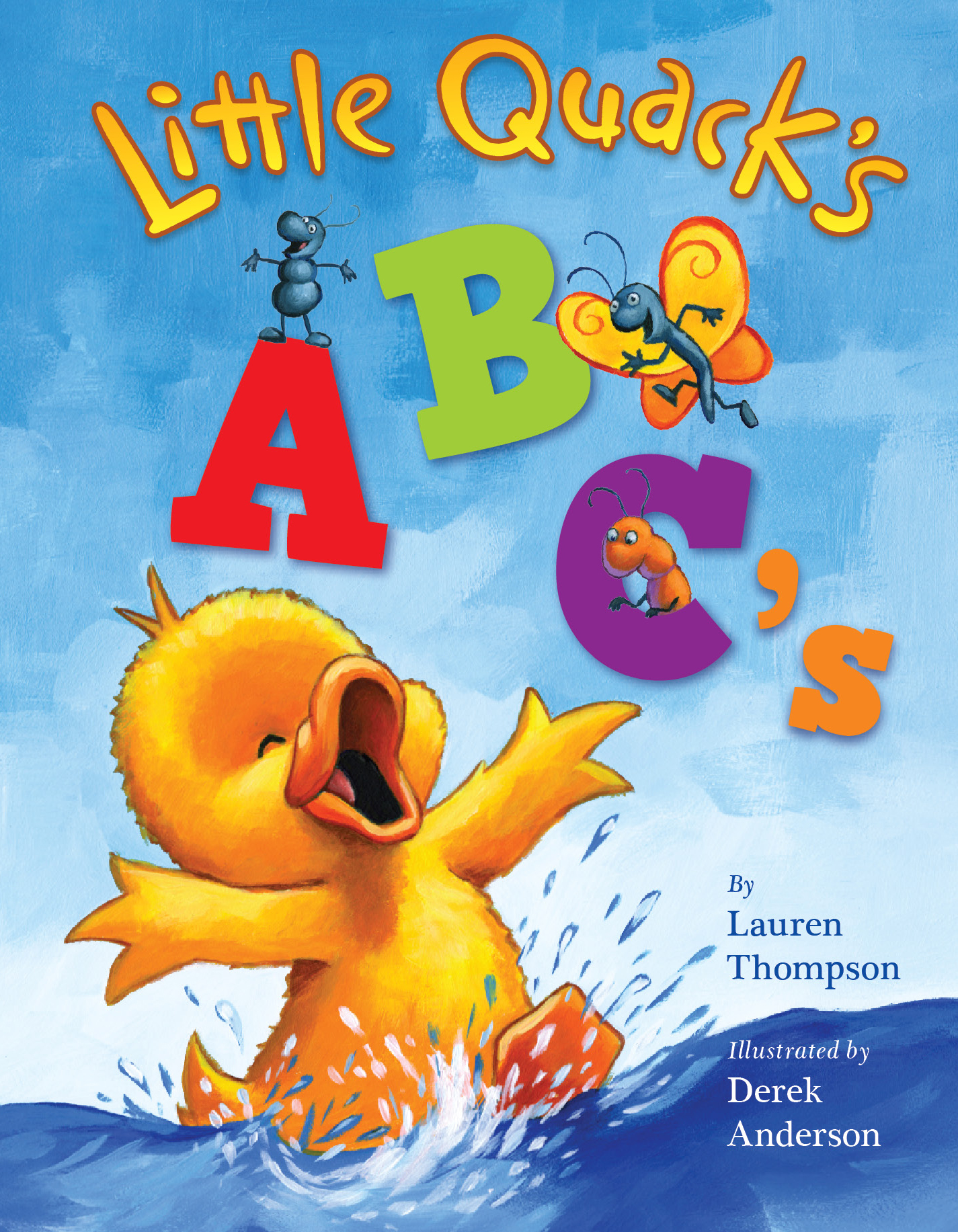 Cover Page For Children S Book : Little quack s abc book by lauren thompson derek