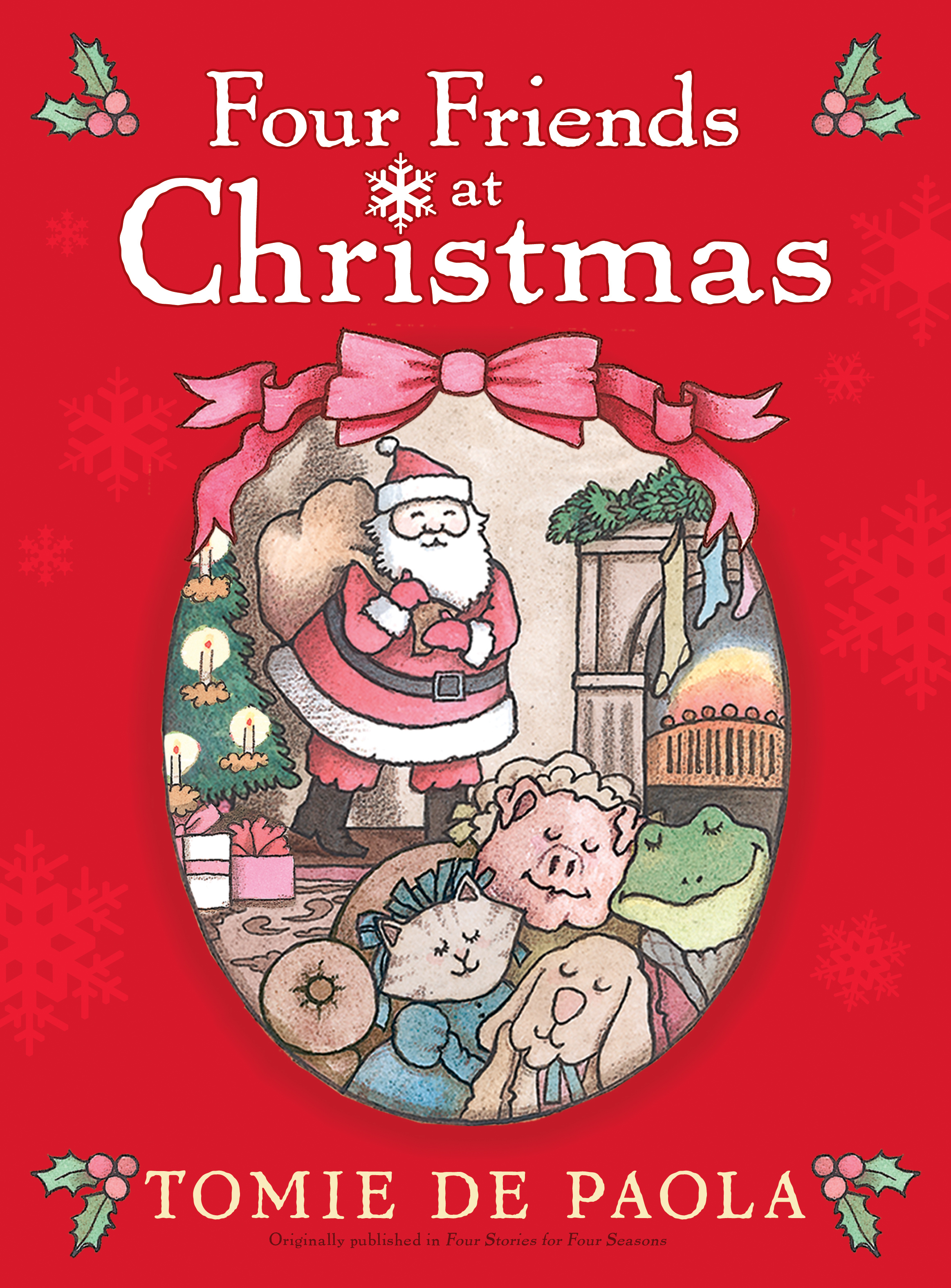 book cover image jpg four friends at christmas