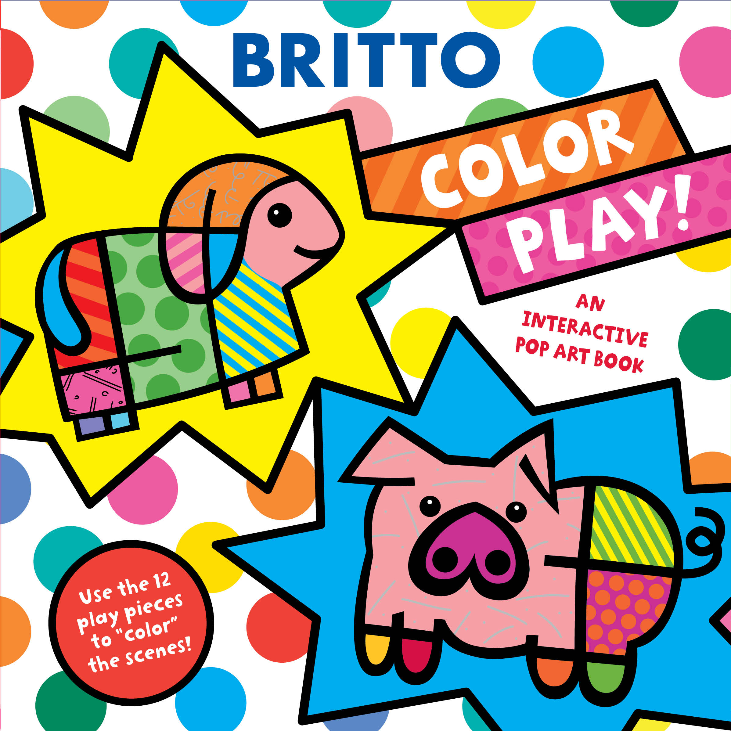 an interactive pop art book color play