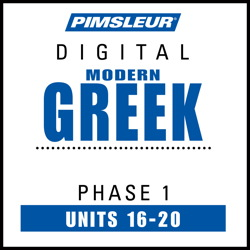 Greek (Modern) Phase 1, Unit 16-20
