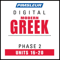 Greek (Modern) Phase 2, Unit 16-20