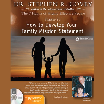 stephen covey developing a personal mission statement Their mission statement reads:  in march 2008, covey launched the stephen covey's online community  personal family.
