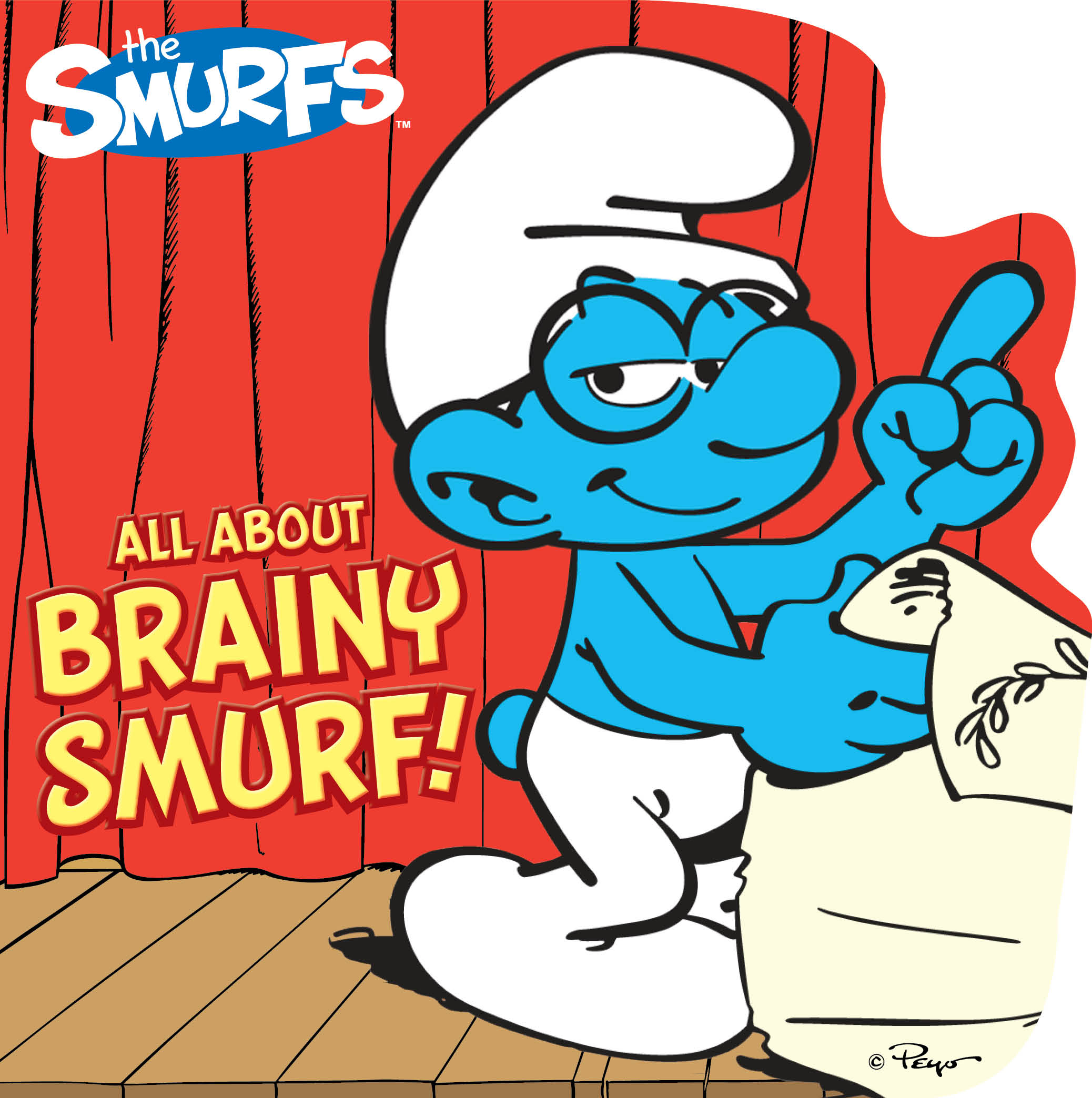 all about brainy smurf book by peyo official