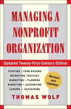 Managing a nonprofit organization book by thomas wolf official managing a nonprofit organization fandeluxe Images