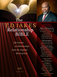 The T.D. Jakes Relationship Bible Deluxe Retail Edition (leatherette book in a Box)
