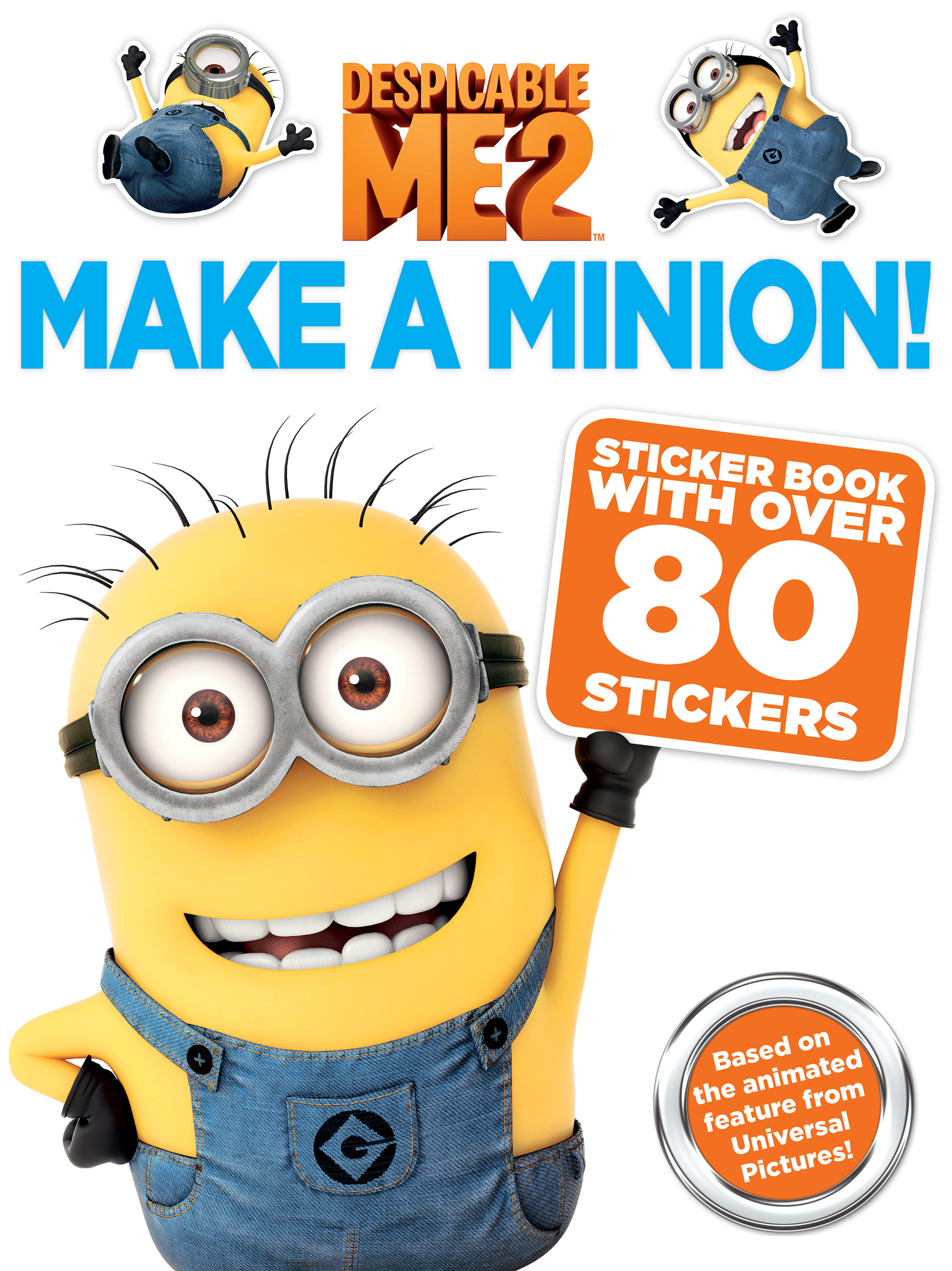 despicable me 2: make a minion sticker book | bookkirsten mayer