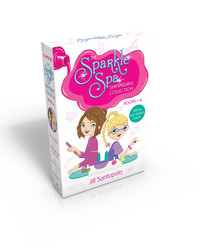 The Sparkle Spa Shimmering Collection Books 1-4 (Glittery nail stickers inside!)