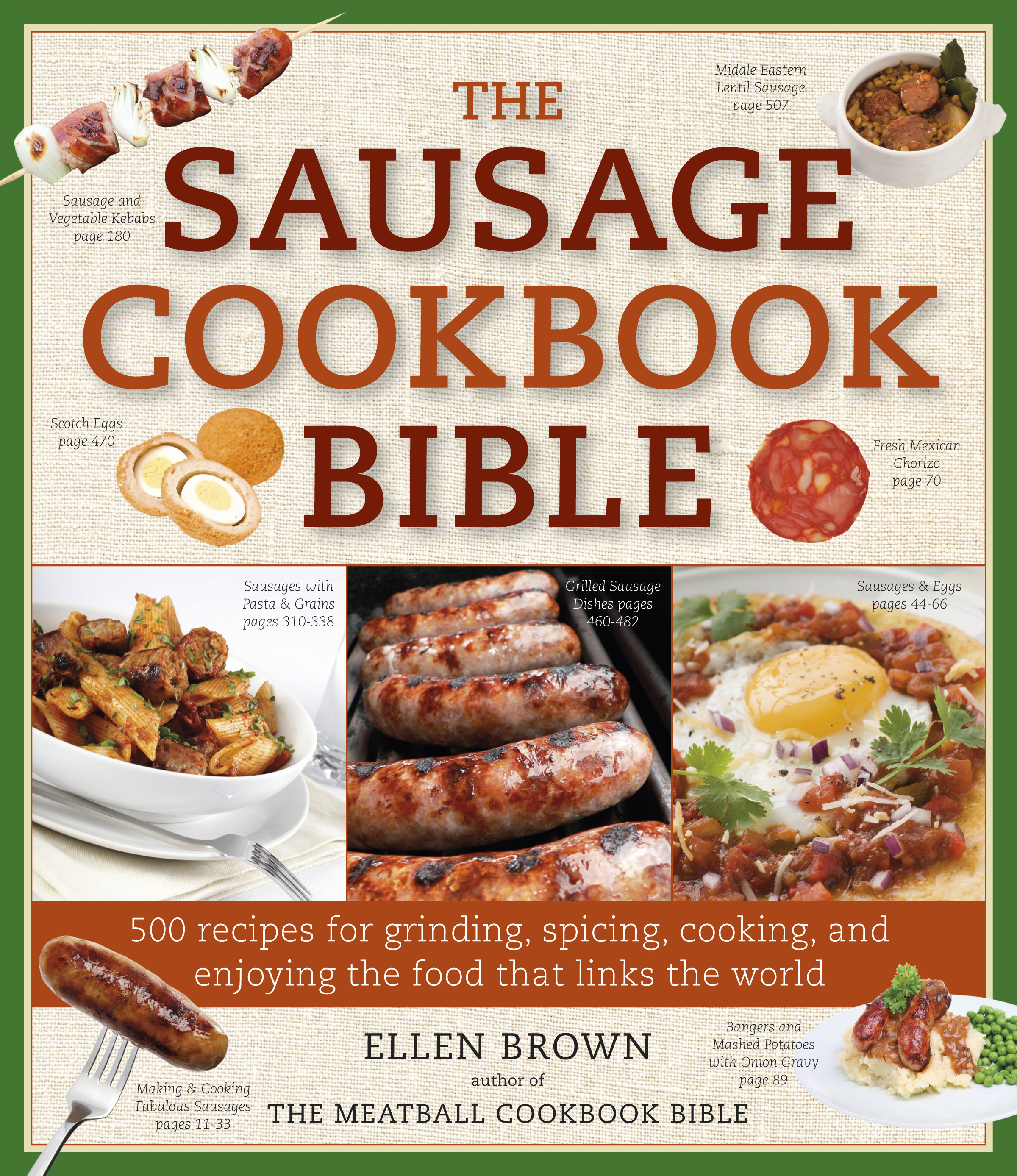 Food Book Cover Job : The sausage cookbook bible book by ellen brown