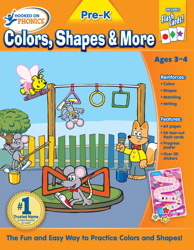 Hooked on Phonics Pre-K Colors, Shapes & More Premium Workbook