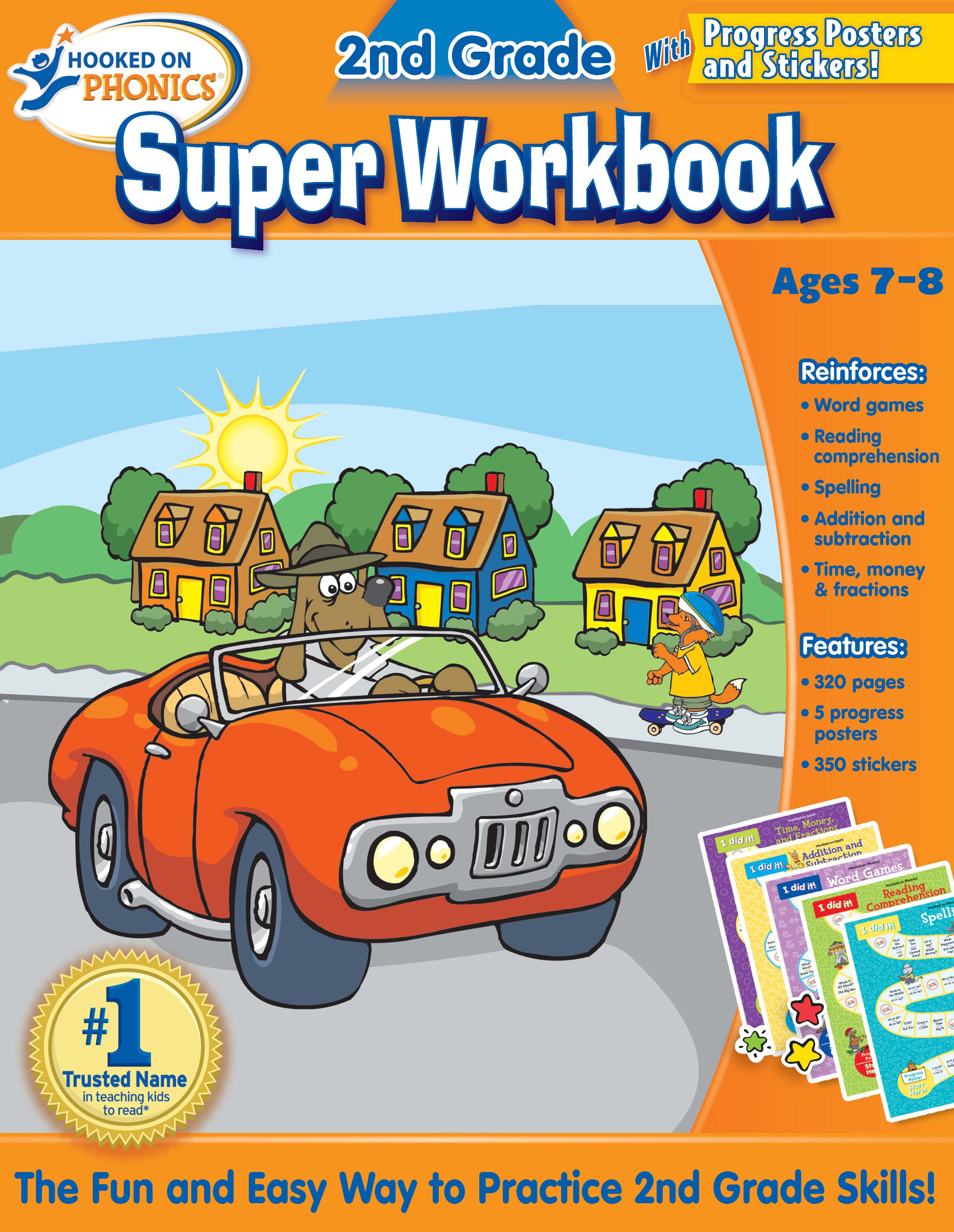 Hooked on Phonics 2nd Grade Super Workbook | Book by Hooked On ...