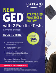New GED® Test Strategies, Practice, and Review with 2 Practice Tests
