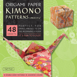 "Origami Paper - Kimono Patterns - Large 8 1/4"" - 48 Sheets"