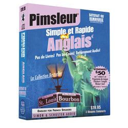 Pimsleur English for French Speakers Quick & Simple Course - Level 1 Lessons 1-8 CD