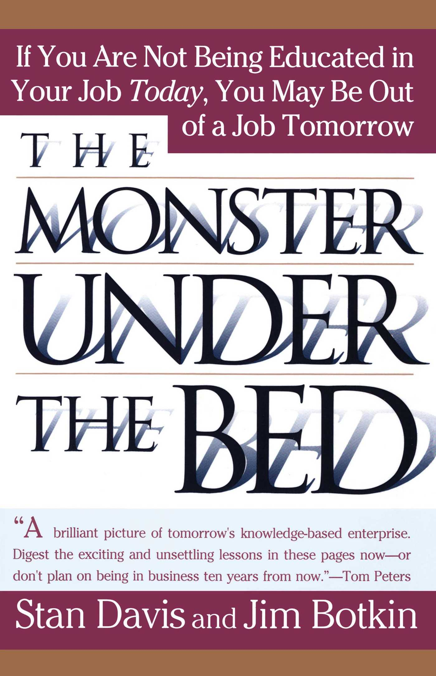 Monster under the bed 9780684804385 hr