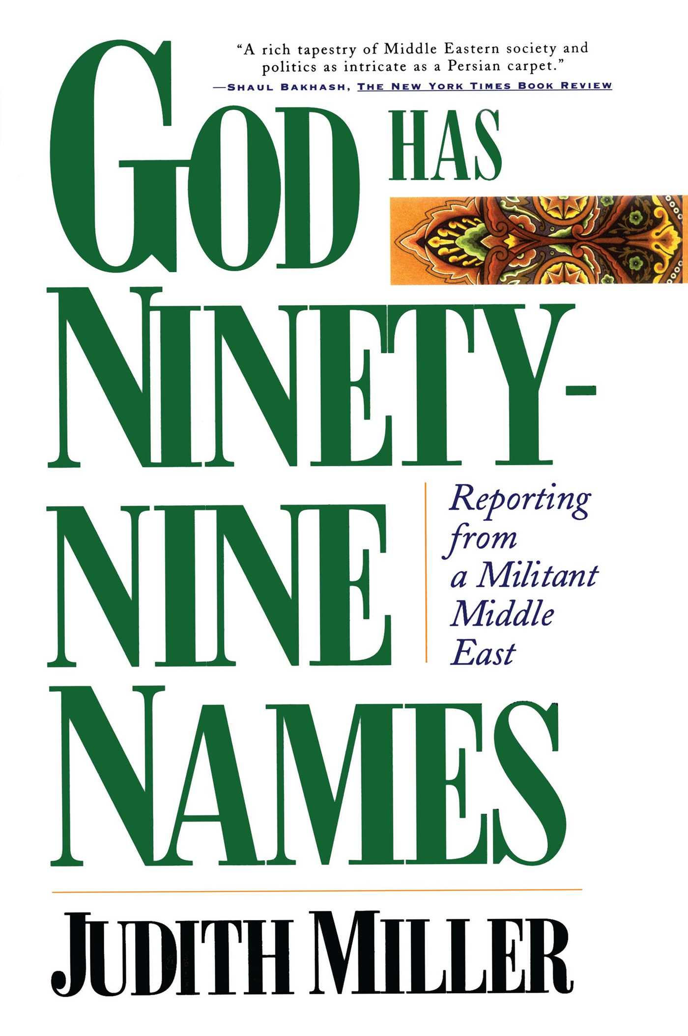 God has ninety nine names 9780684832289 hr