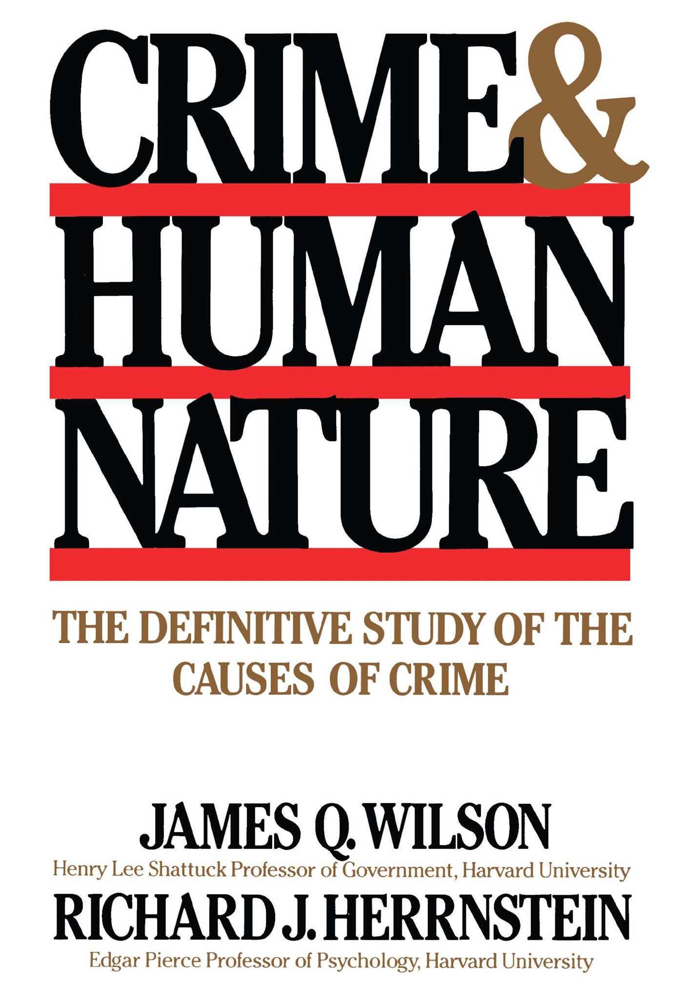 Crime human nature 9780684852669 hr