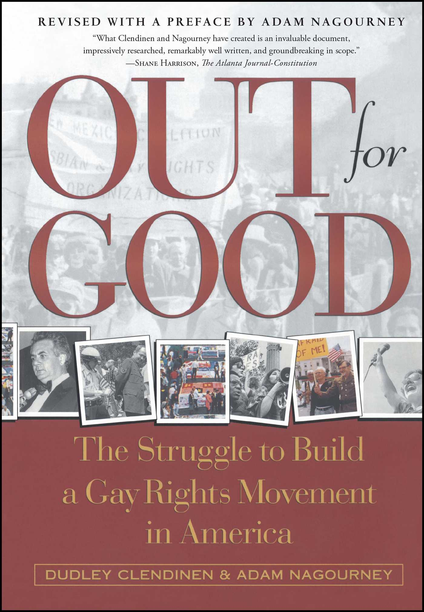 out for good book by dudley clendinen adam nagourney official out for good 9780684867434 hr