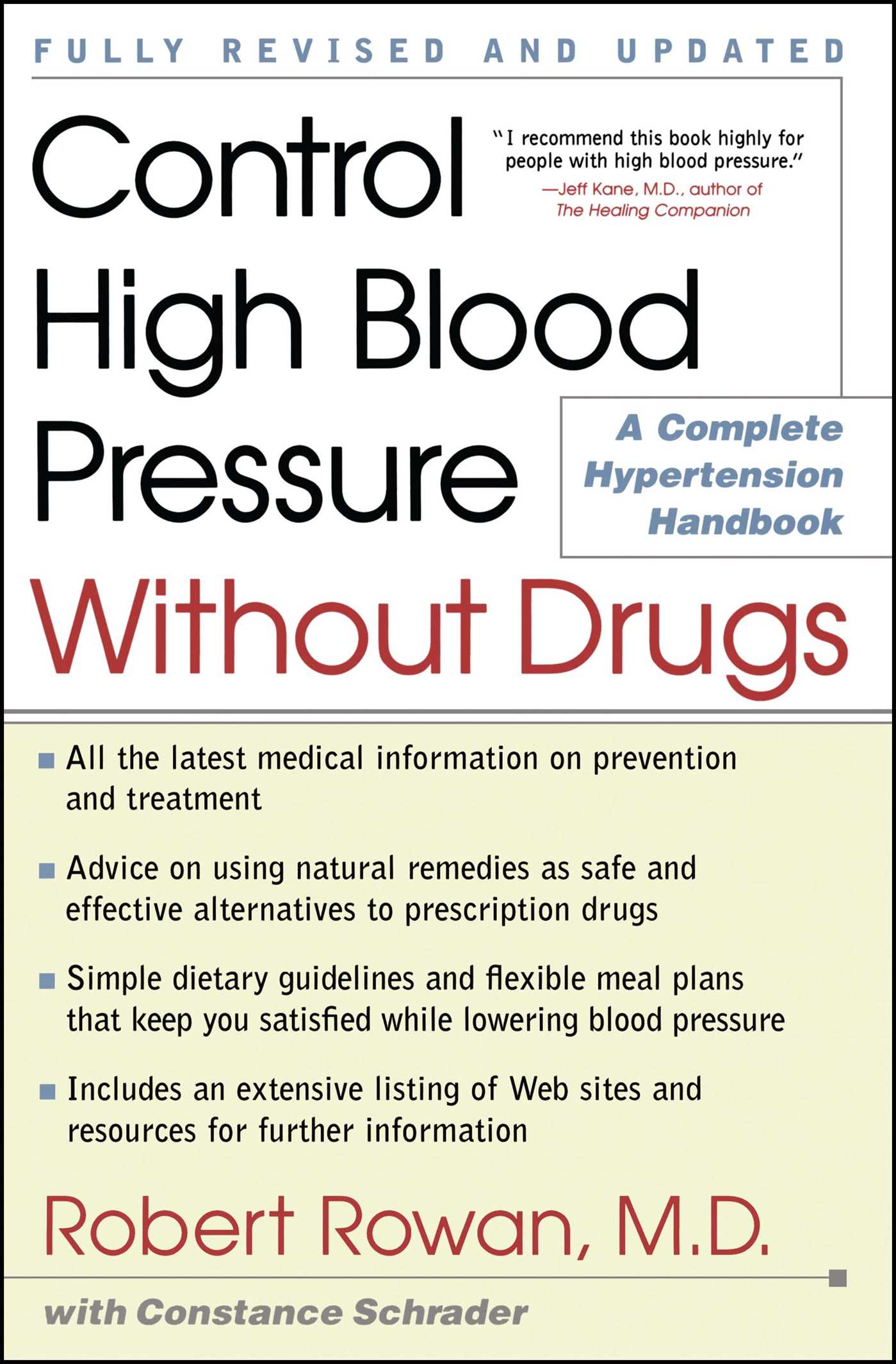 Control high blood pressure without drugs 9780684873282 hr