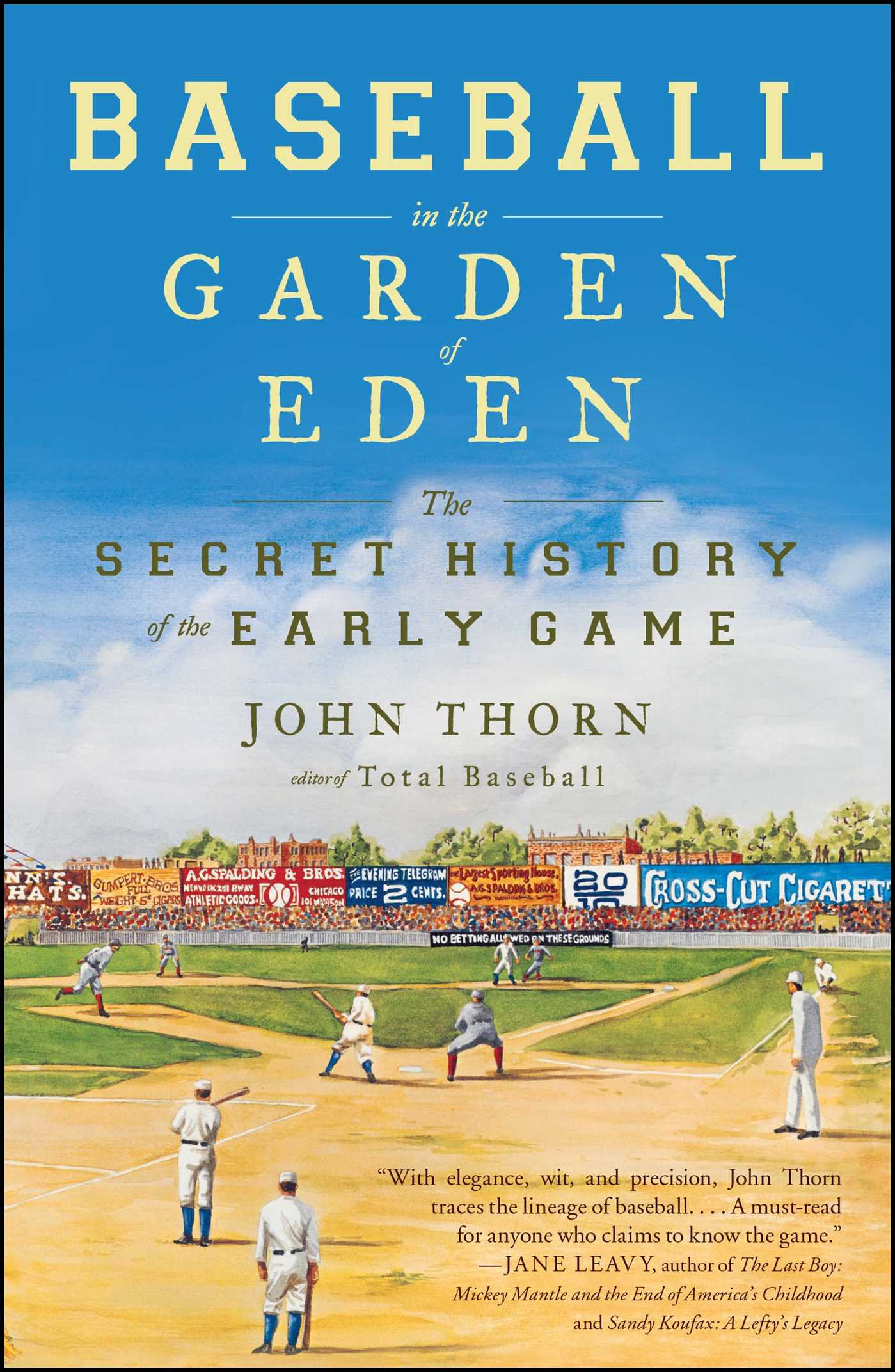 Baseball in the garden of eden 9780743294041 hr
