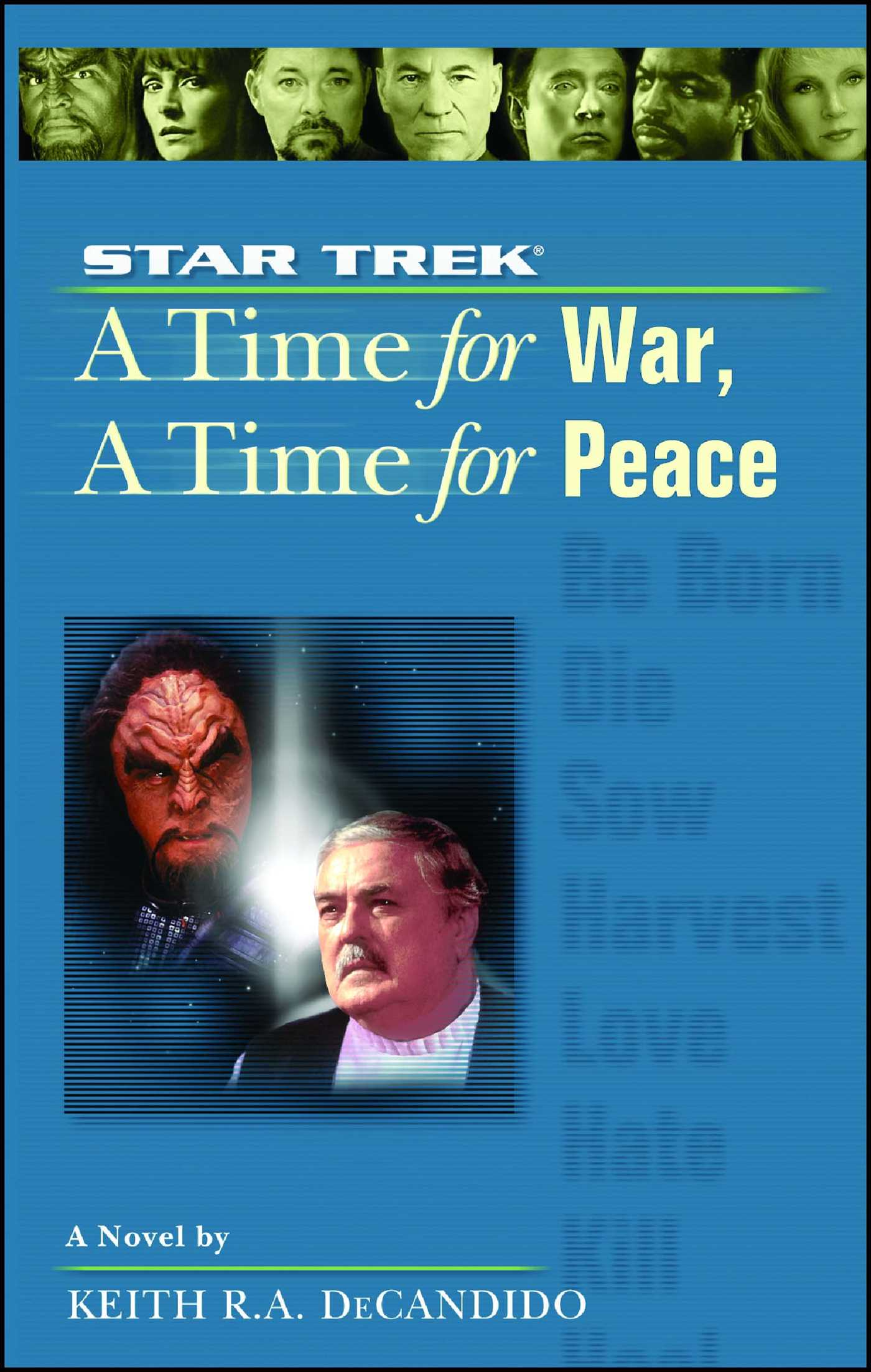 A star trek the next generation time 9 a time for war a time for peace 9780743499972 hr