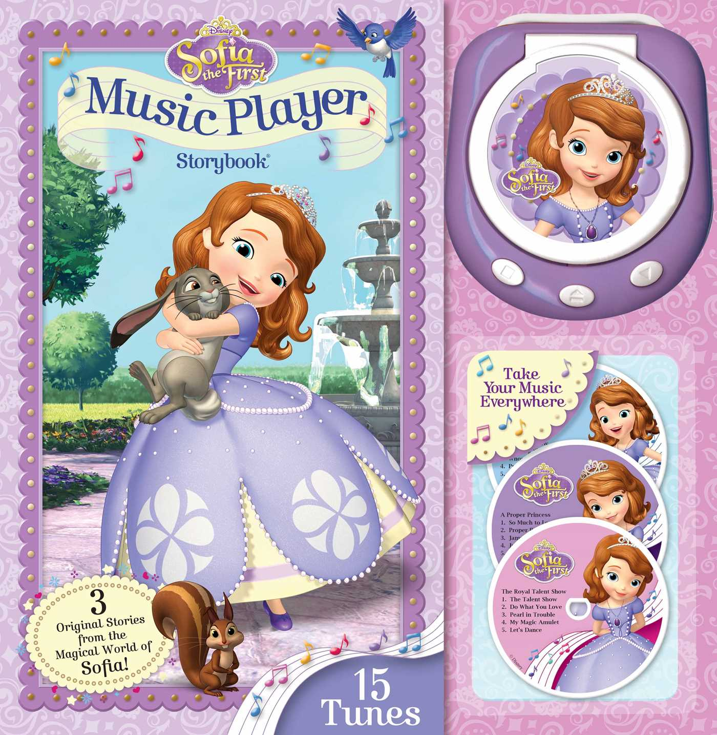 Disney sofia the first music player storybook 9780794433574 hr. Disney Sofia the First Music Player Storybook   Book by Disney