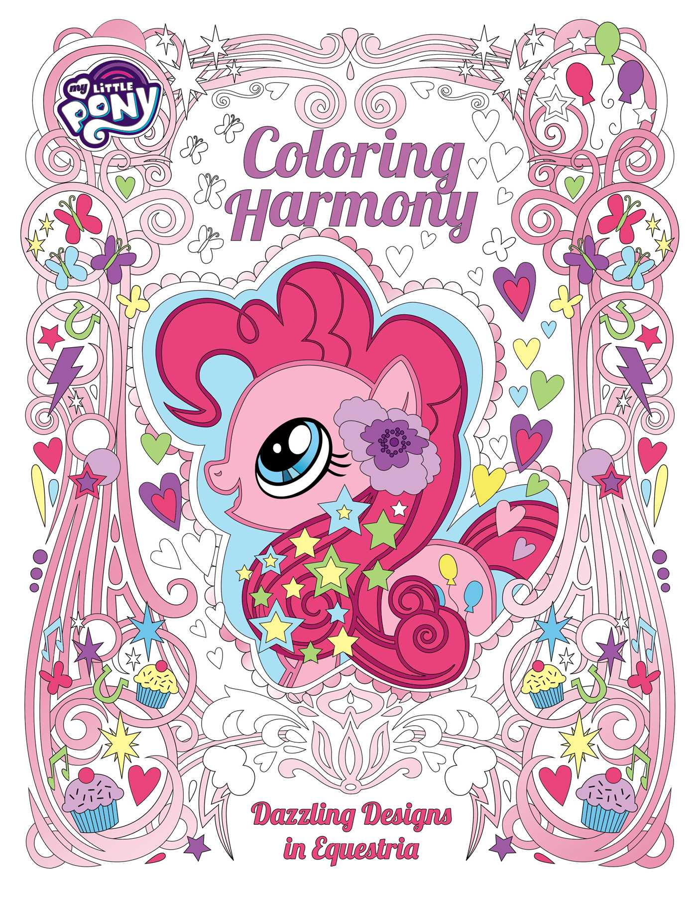 my little pony coloring harmony book by robin hoffman
