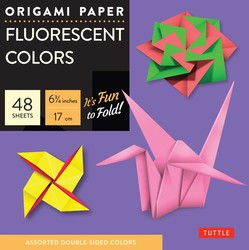"Origami Paper - Fluorescent - 6 3/4"" - 49 Sheets"