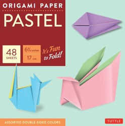 "Origami Paper - Pastel - 6 3/4"" - 49 Sheets"