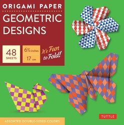 "Origami Paper - Geometric Prints - 6 3/4"" - 49 Sheets"