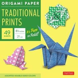 "Origami Paper - Traditional Prints - 8 1/4"" - 49 Sheets"